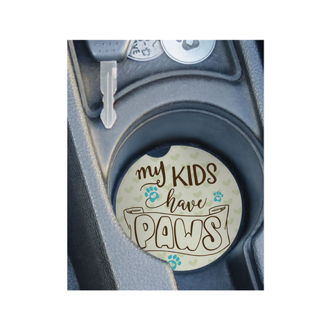 Car Coaster - My Kids have Paws