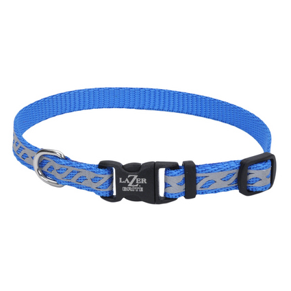 Lazer Brite Reflective Dog Collar - Blue
