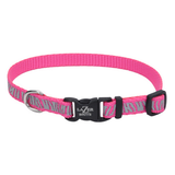 Lazer Brite Reflective Dog Collar - Pink