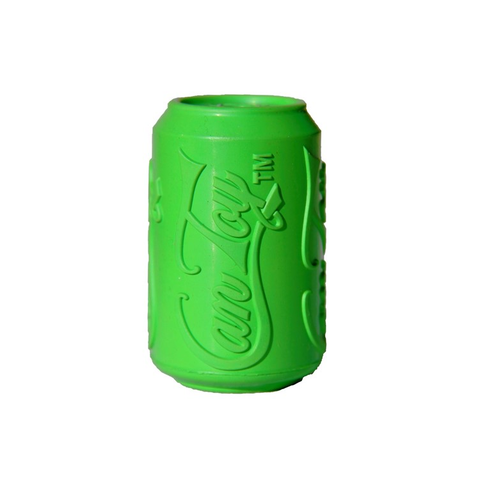 Soda Pup Rubber Can Dog Toy - green