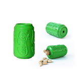 Soda Pup Rubber Can Dog Toy - green with treats