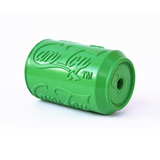 Soda Pup Rubber Can Dog Toy - green top