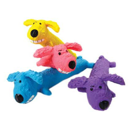 "Loofa ""Ruff"" Dog Rubber Toy"