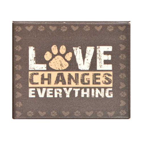 Love Changes Everything Dog Coaster