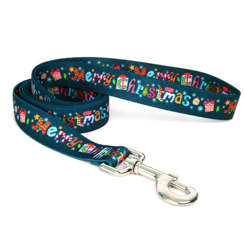Merry Christmas Adjustable Nylon Dog Leash
