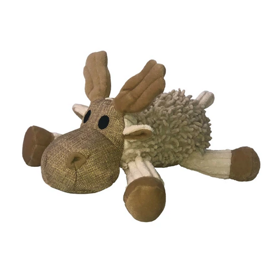 Natural Knubby Plush Moose Dog Toy
