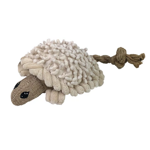 Natural Knubby Plush Turtle Dog Toy