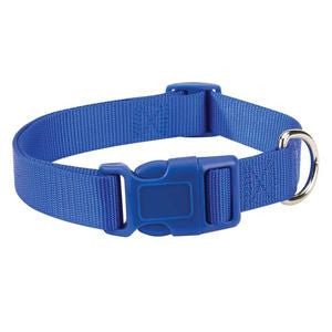 Nautical Blue Adjustable Nylon Dog Collar SM