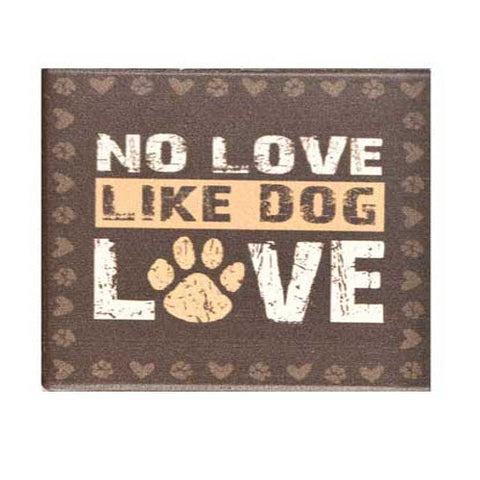 No Love Like Dog Love Coaster Brown