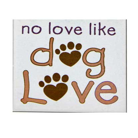 No Love Like Dog Love Coaster Blue