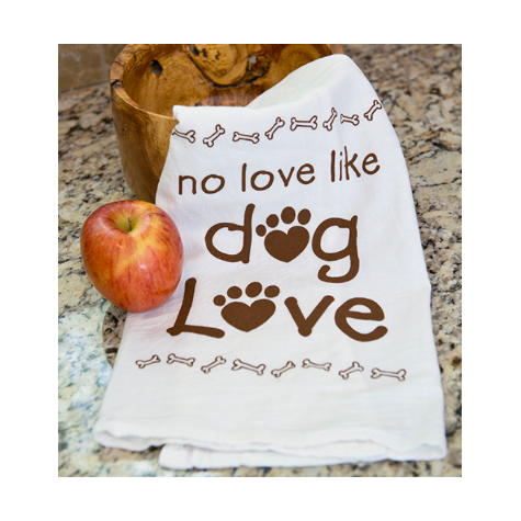 Dog Love Kitchen Towel - 100% Cotton