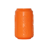 Soda Pup Rubber Can Dog Toy - orange