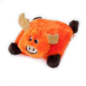 Plush Square Pad Moose Dog Toy