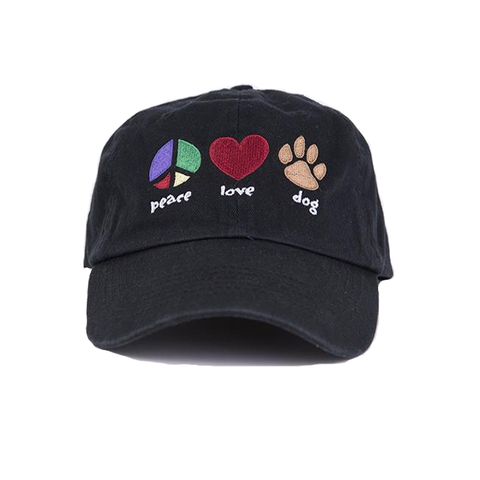 Baseball Hat - Peace, Love, Dog