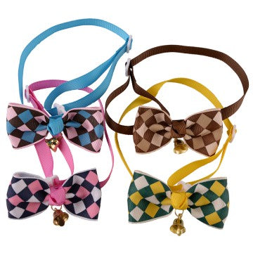 Classy Diamond Plaid Dog Bow Ties