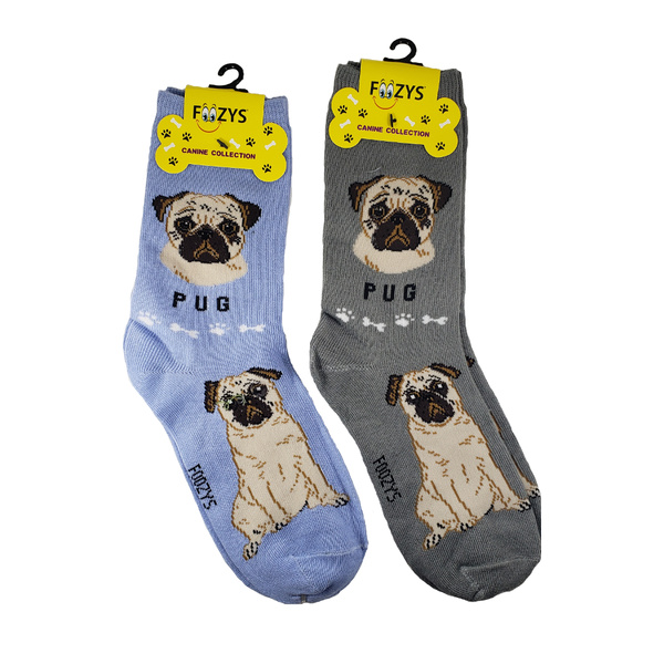 Wrinkly Pug Women's Crew Socks