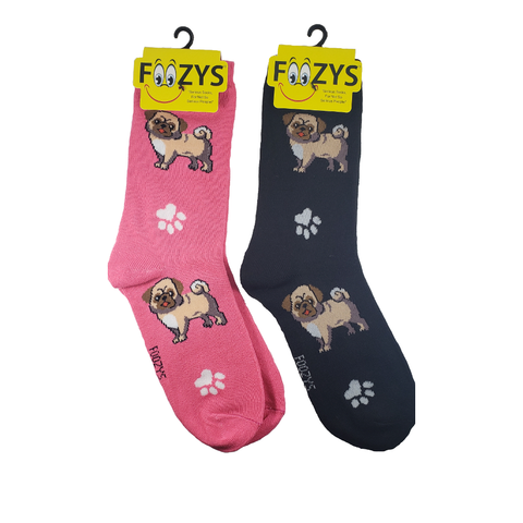 Pugs and Paws Women's Crew Socks