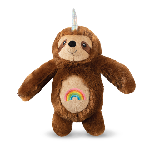 Rainbow Slothicorn Plush Dog Toy