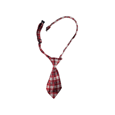 Dog Necktie - Red Plaid