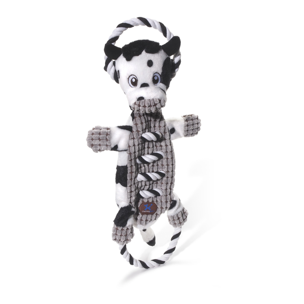 Ropes a Go-Go Cow Plush Dog Toy