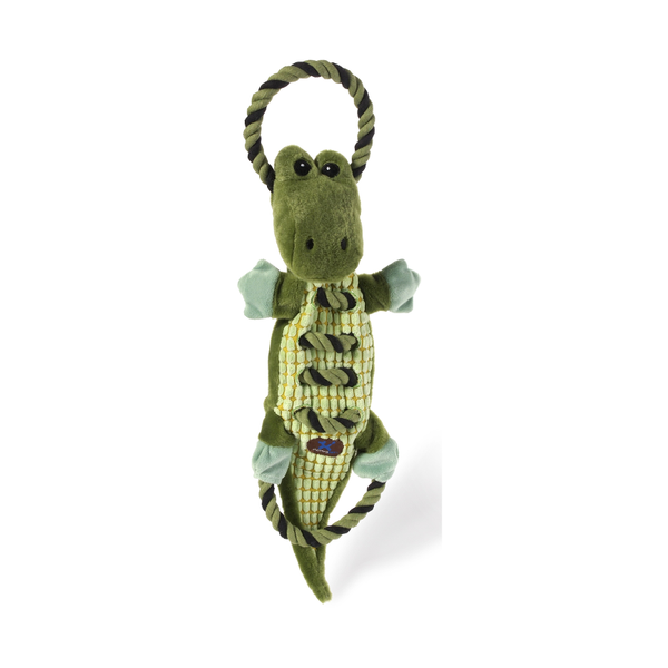 Ropes A Go-Go Gator Plush Dog Toy
