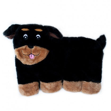 Squeakie Pup Plush Rottweiler - Front