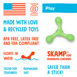 The Skamp - Fetch Toy for Dogs - Info Card