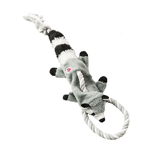 Woodland Racoon Rope Tug Dog Toy