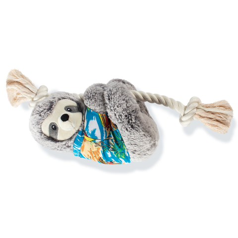 Slow Down Summer Sloth Plush Dog Toy