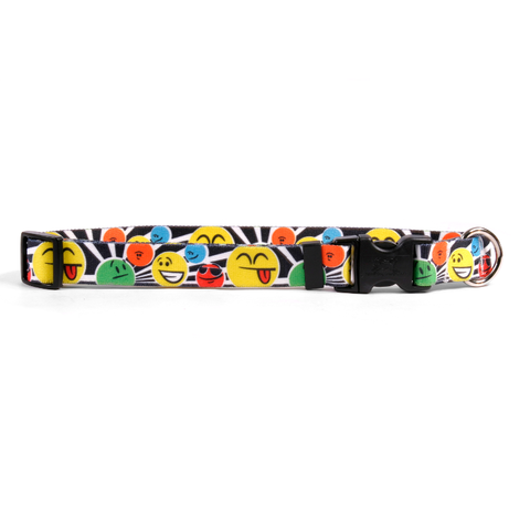 Smileys Adjustable Nylon Dog Collar