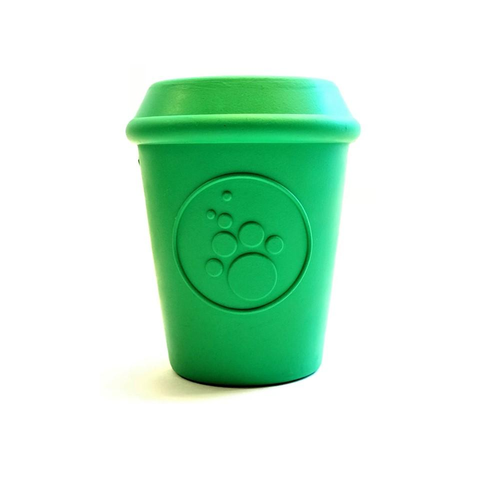 Soda Pup Rubber Coffee Cup Dog Treat Toy