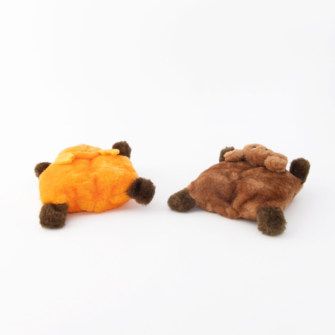 Squeakie Pad Bear/Moose Dog Toy 2pk (back)