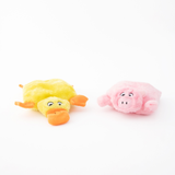 Squeakie Pad Duck/Pig Dog Toy 2pk
