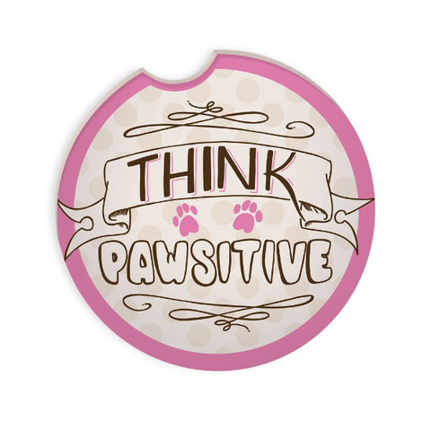 Car Coaster - Think Pawsitive