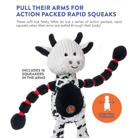 Thunda Tuggas™ Plush Cow Dog Toy