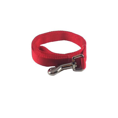 Deep Red Nylon Dog Leash