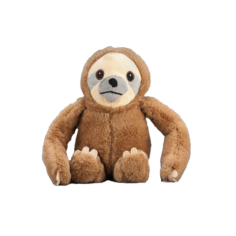 Brown Sloth Plush Dog Toy