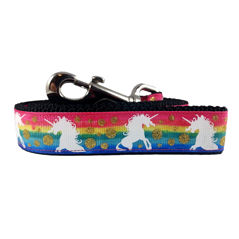 Rainbow Unicorn Sparkle Dog Leash