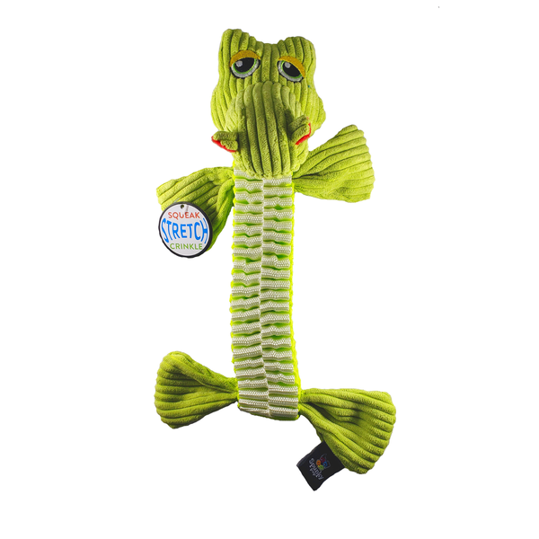 Wibbleez Gator Short Tug Dog Toy