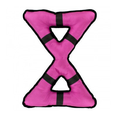 "Super Large Pink ""X"" Tug Dog Toy"