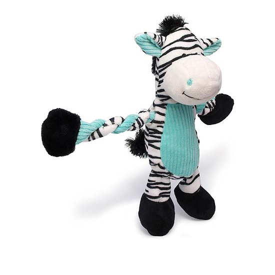 Pulleez Plush Zebra Dog Toy