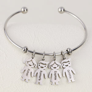 Personalized Name Bracelet with Kids Charm