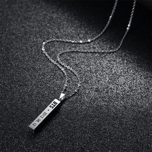 4 Side Engraved Necklace
