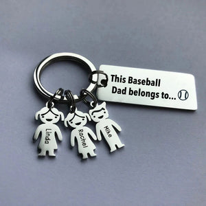 This Baseball Dad belongs to - Personalized keychain