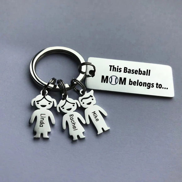 This Baseball Mom belongs to Personalized keychain