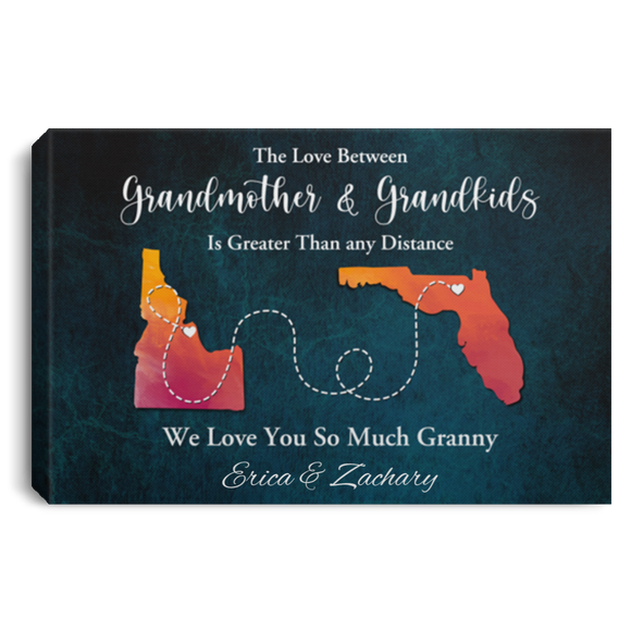 The Love Between Grandmother & Grandkids Is Greater Than Any Distance Canvas