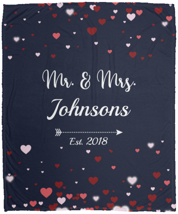 Personalised Mr. & Mrs. Fleece Blanket
