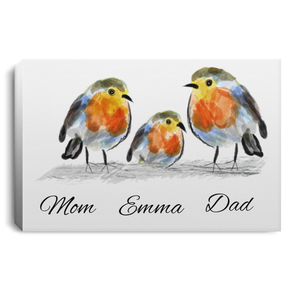 Personalized Robin Family Canvas