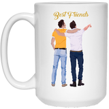 'best friends coffee mugs for boys' - CustomGrace