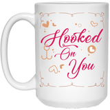 """Hooked On You"" Coffee Mug for Couples"